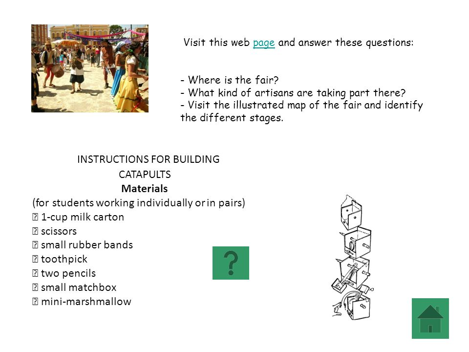 INSTRUCTIONS FOR BUILDING