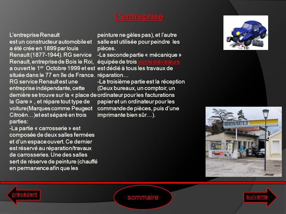rapport de stage rg service renault la gare de bois le roi ppt t l charger. Black Bedroom Furniture Sets. Home Design Ideas
