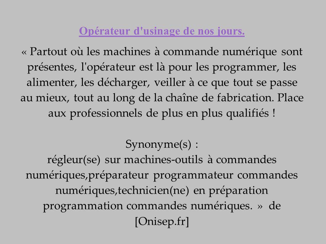 Operateur D Usinage Et Le Travail A La Chaine Ppt Telecharger