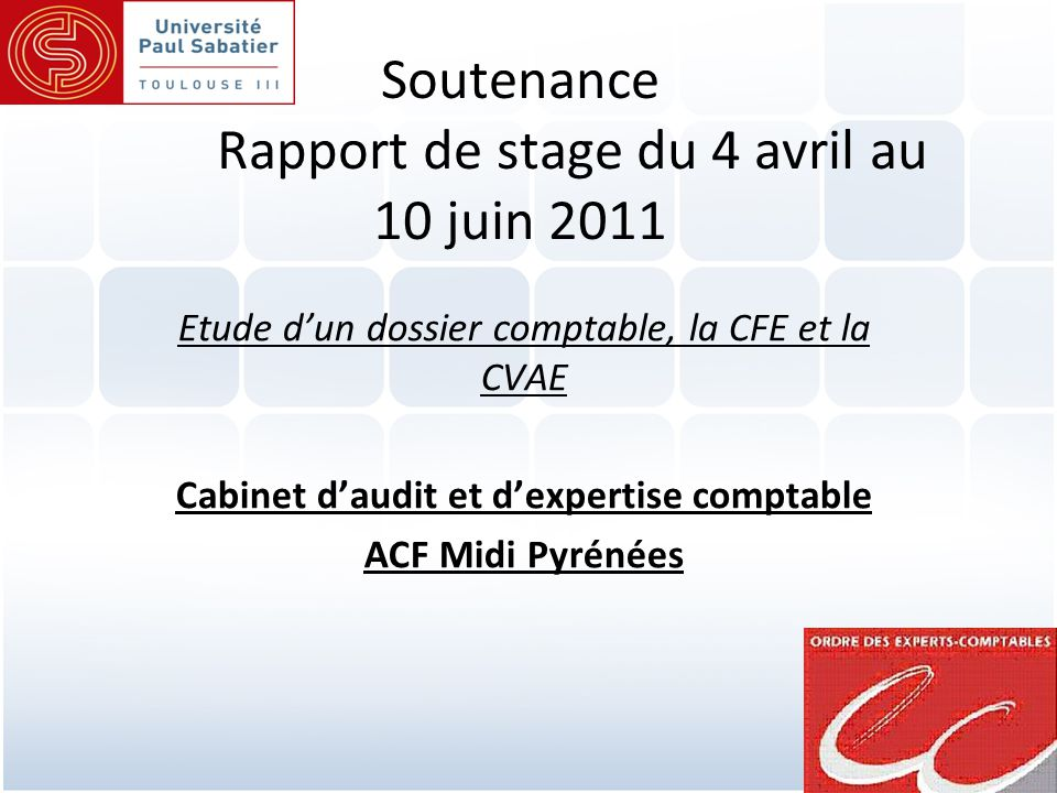 Soutenance rapport de stage du 4 avril au 10 juin ppt video online t l charger - Stage cabinet expertise comptable ...