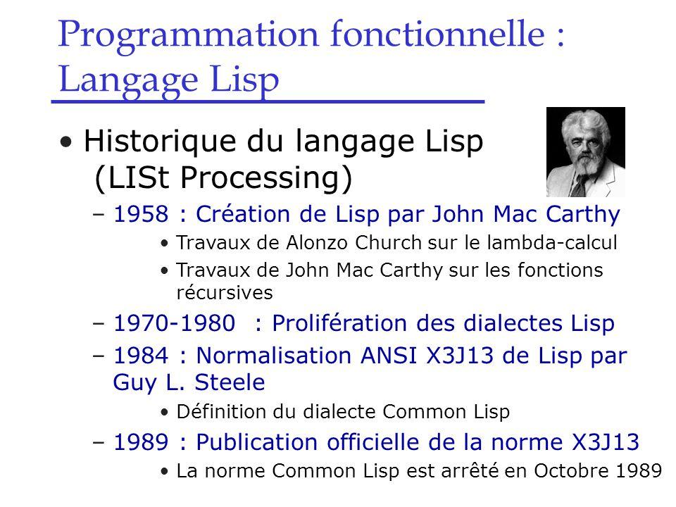 le langage lisp