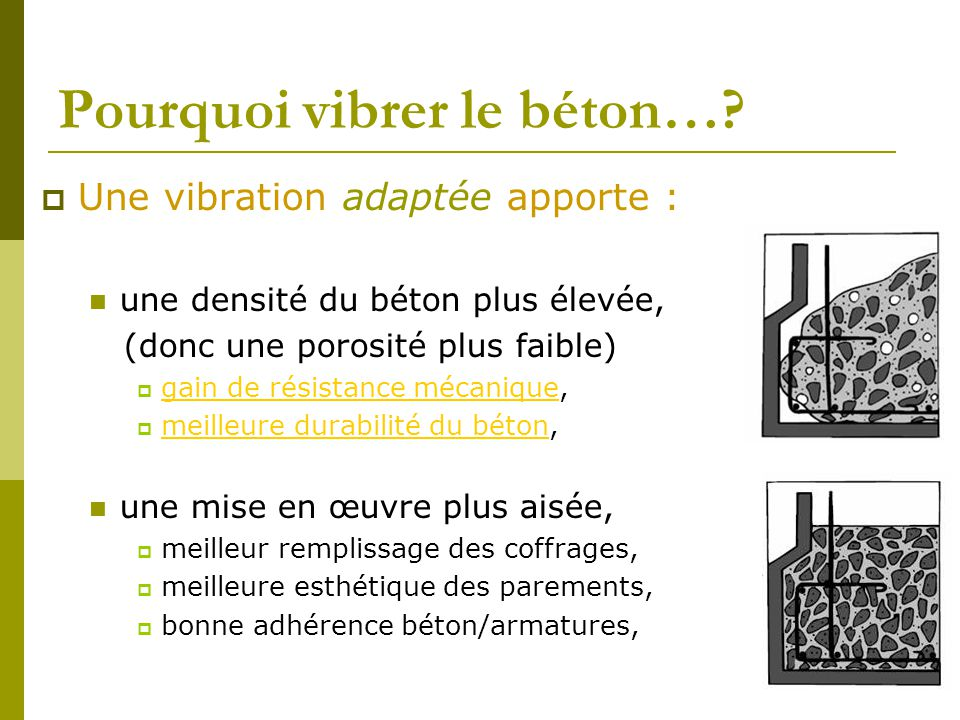 la vibration des betons ppt video online t l charger. Black Bedroom Furniture Sets. Home Design Ideas