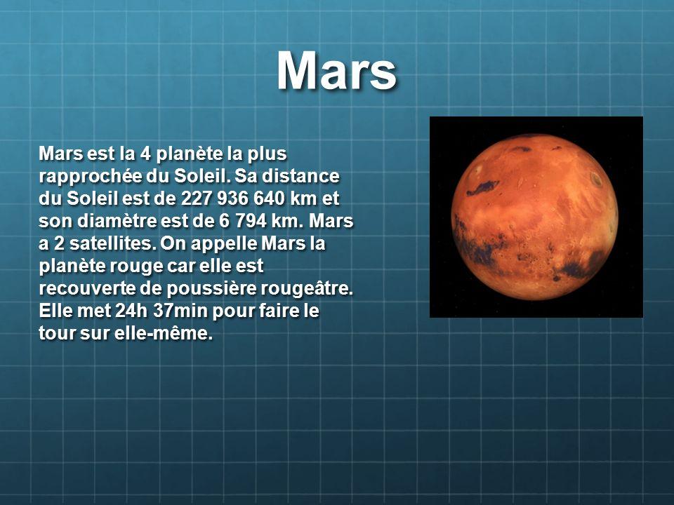 planete mars distance du soleil