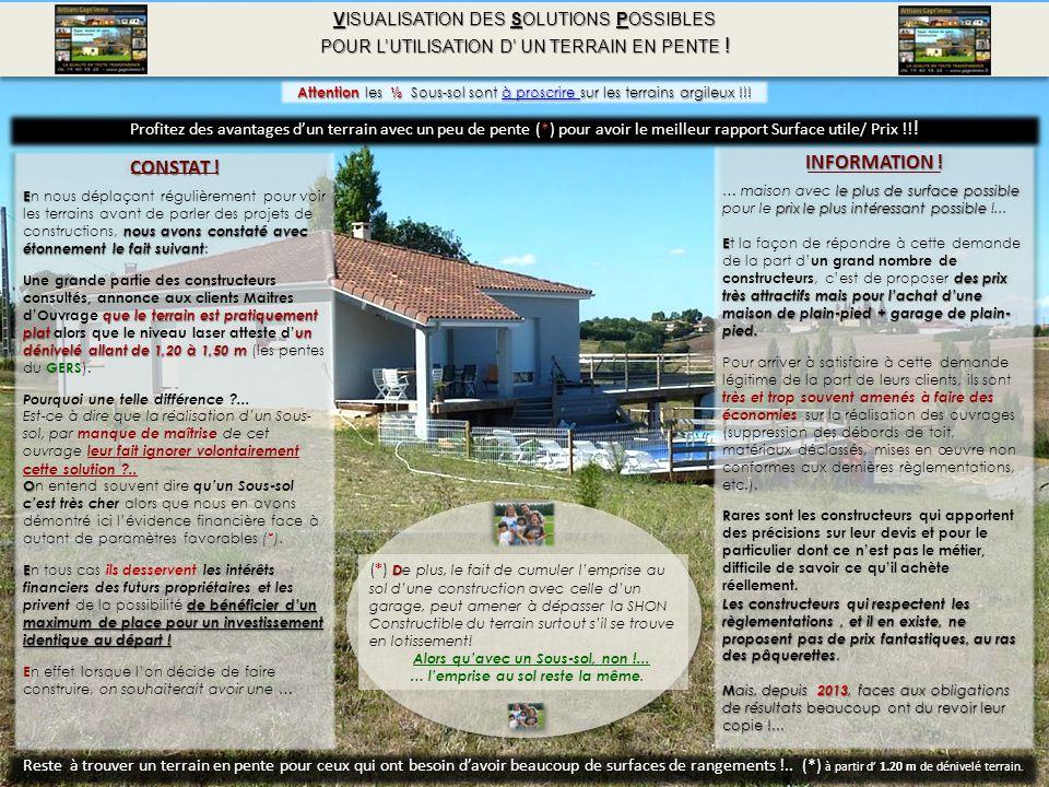 Coupe terrain sous sol ou plein pied ppt video online for Prix construction garage sous sol