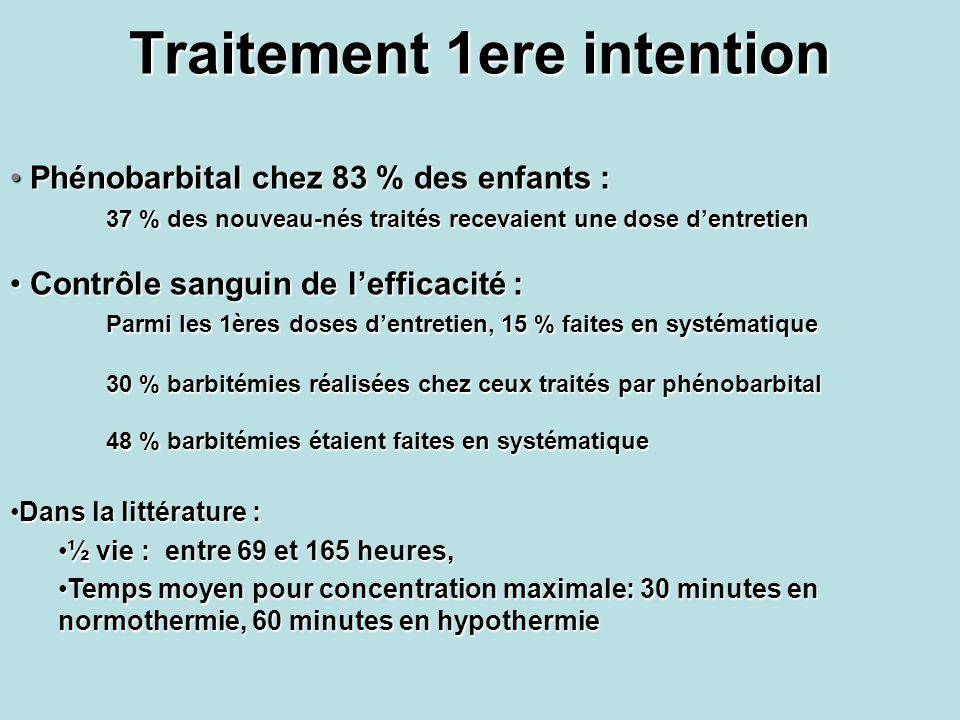 Traitement 1ere intention