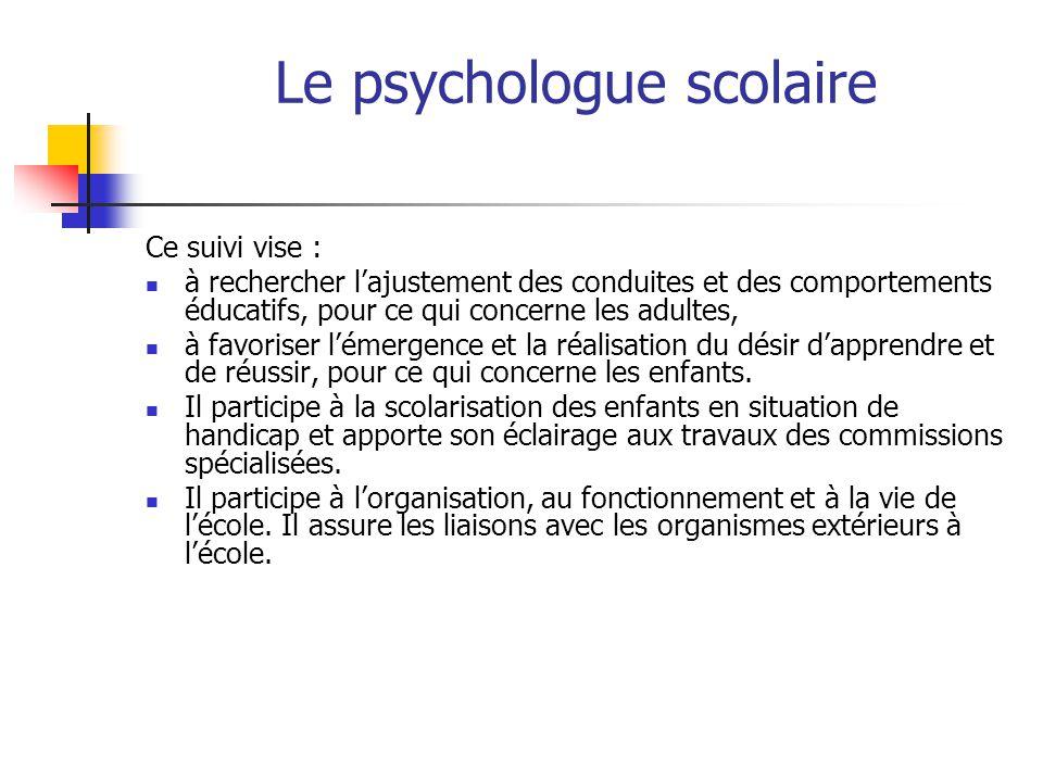 Rencontre avec le psychologue scolaire