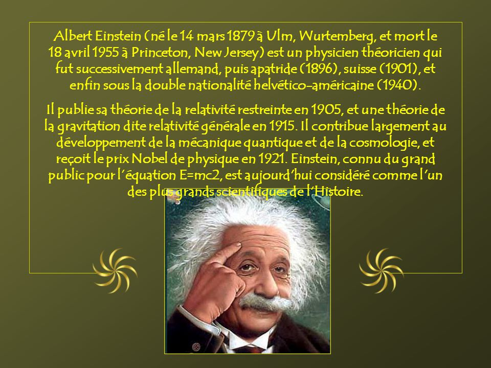 nationalite albert einstein