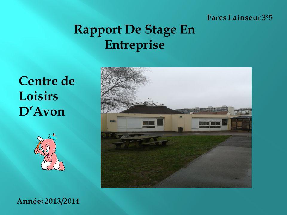 Rapport De Stage En Entreprise Ppt Video Online Telecharger