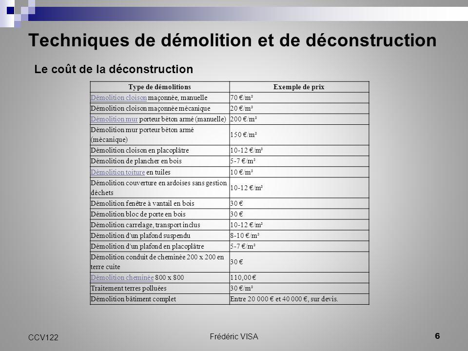 ccv 122 techniques de d molition et de d construction ppt video online t l charger. Black Bedroom Furniture Sets. Home Design Ideas