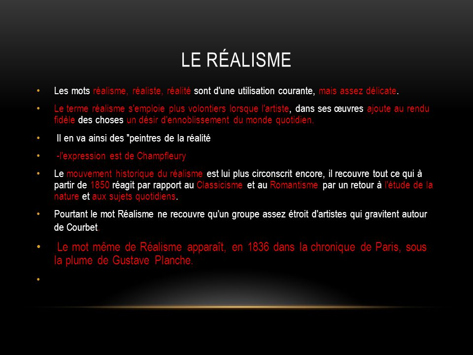 Le Realisme Ppt Telecharger