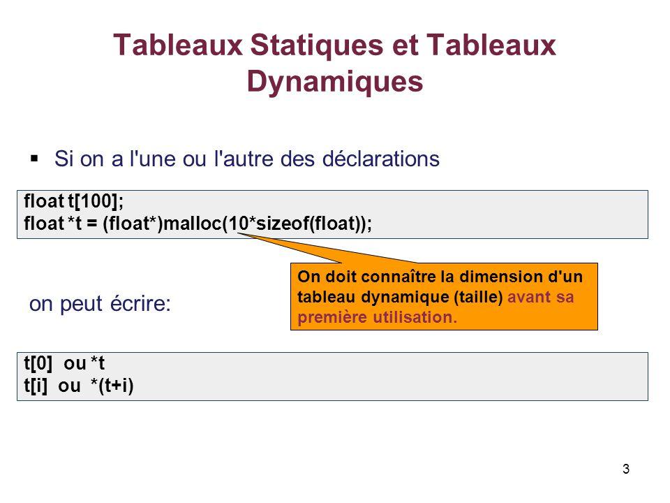 Les Pointeurs Et Les Tableaux Statiques Et Tableaux Dynamiques Ppt