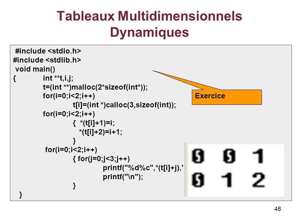 Les Pointeurs Et Les Tableaux Statiques Et Tableaux Dynamiques Ppt Video Online Telecharger