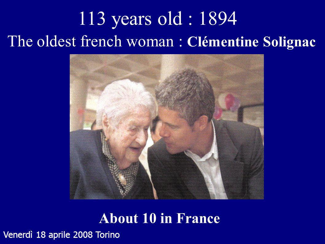 The oldest french woman : Clémentine Solignac