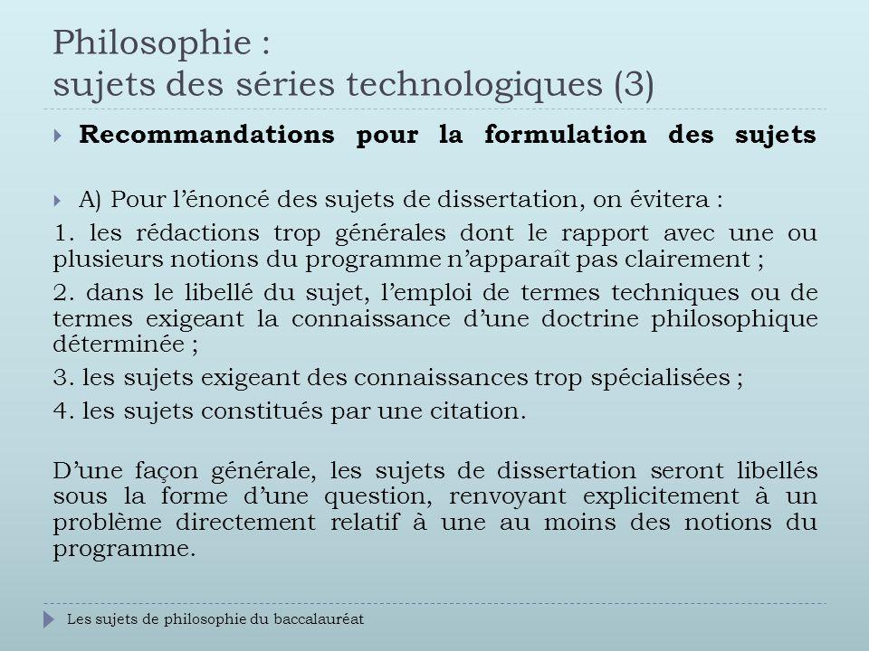 Technique philosophie dissertation