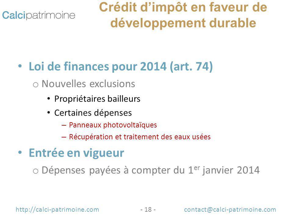 principales mesures fiscales de la loi de finances pour 2014 et de la loi de finances. Black Bedroom Furniture Sets. Home Design Ideas