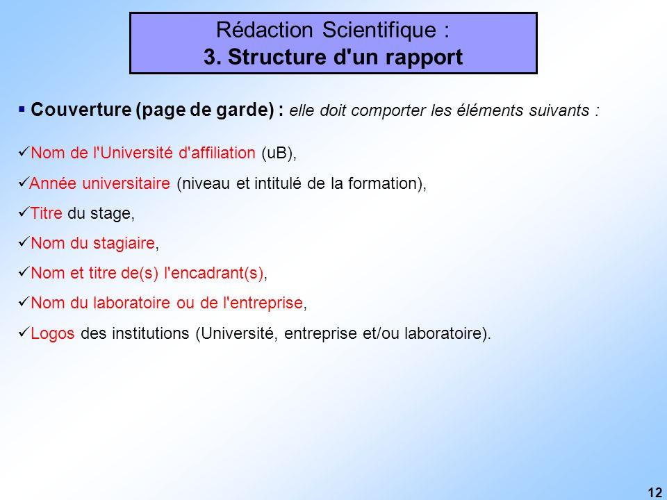 Rédaction Scientifique Généralités Plan Du Cours Ppt
