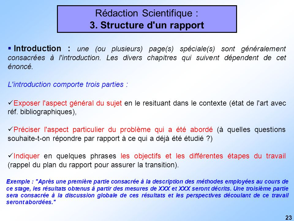 Redaction Scientifique Generalites Plan Du Cours Ppt Telecharger