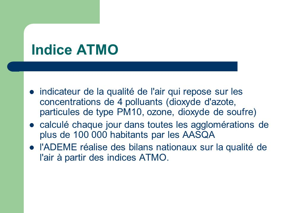 indice qualité air