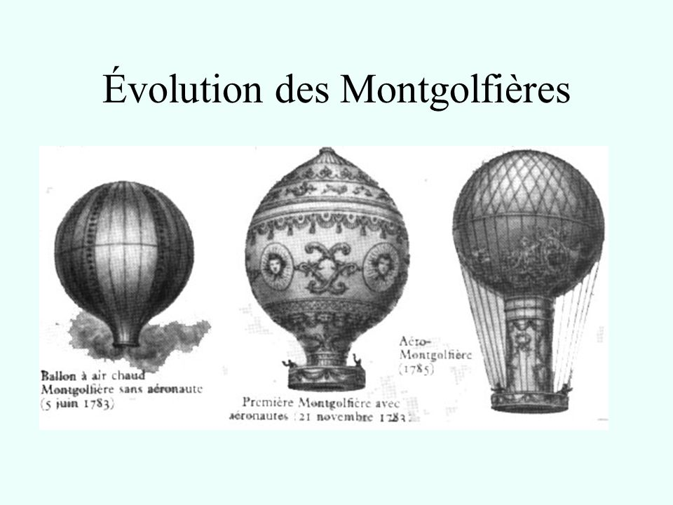 montgolfiere evolution
