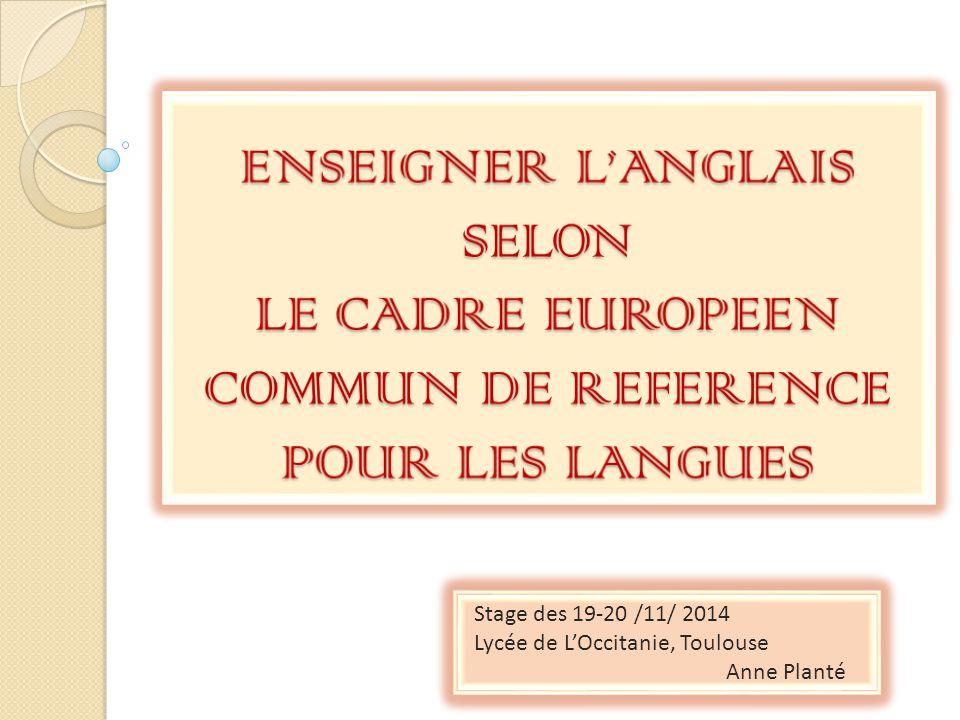 Enseigner L Anglais Selon Le Cadre Europeen Commun De Reference Pour