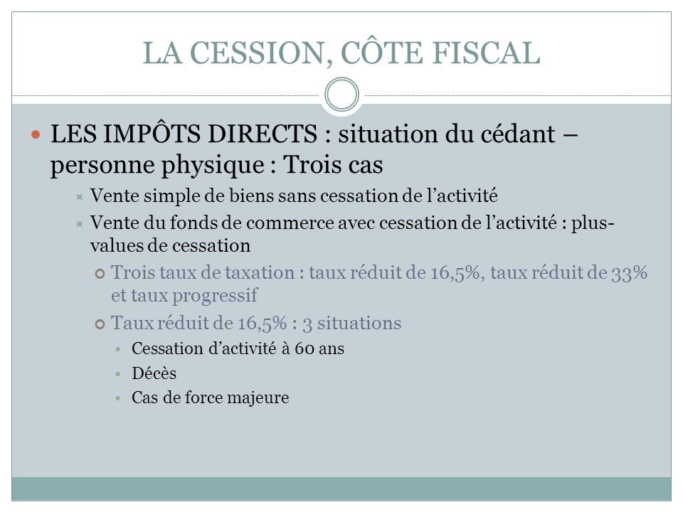 Cession De Fonds De Commerce Ppt Telecharger