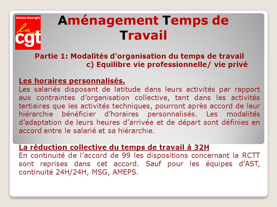 Amenagement Temps De Travail Ppt Video Online Telecharger