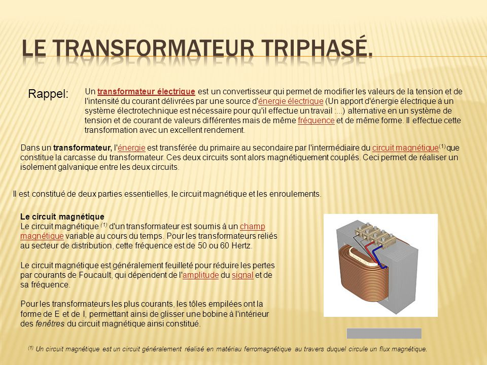 electricite systeme triphase