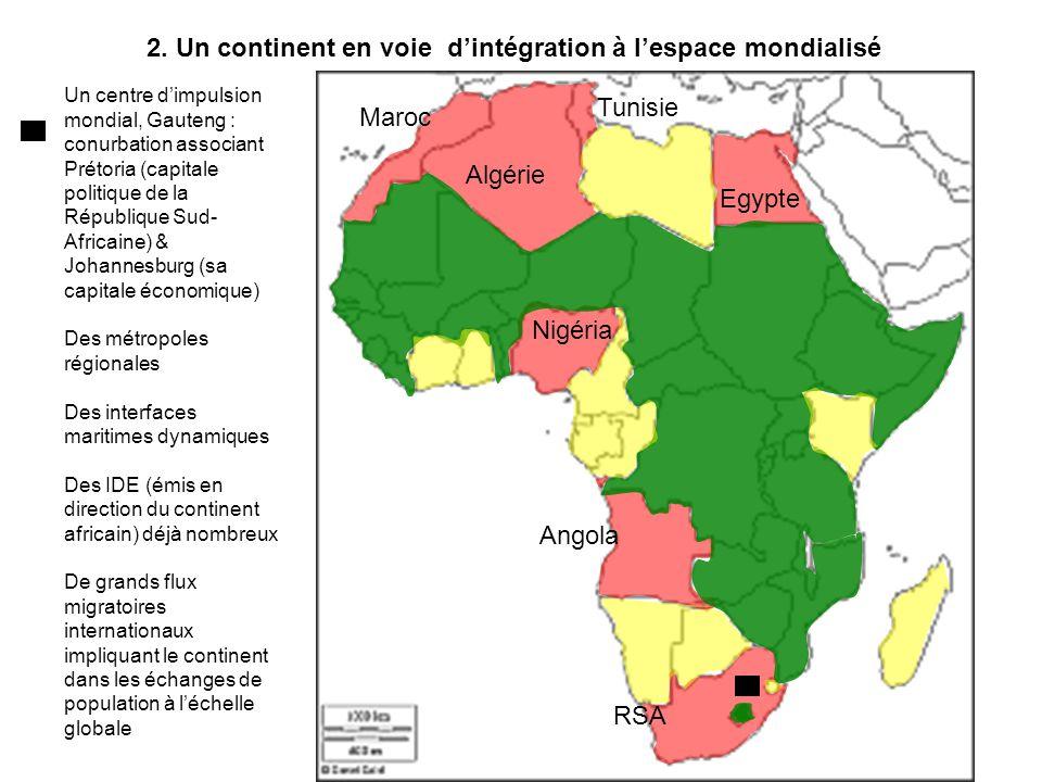 part afrique dans échanges mondiaux