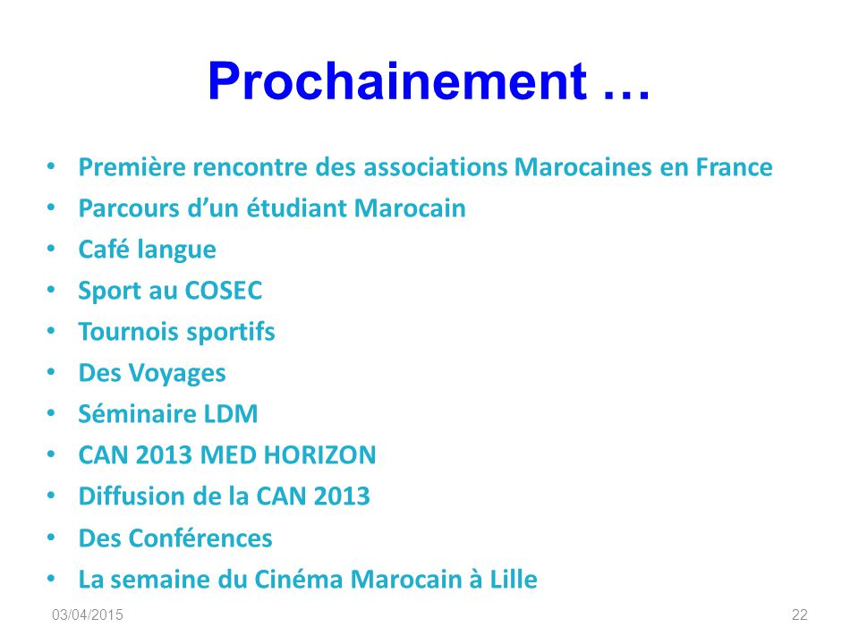 Rencontre marocaine en france