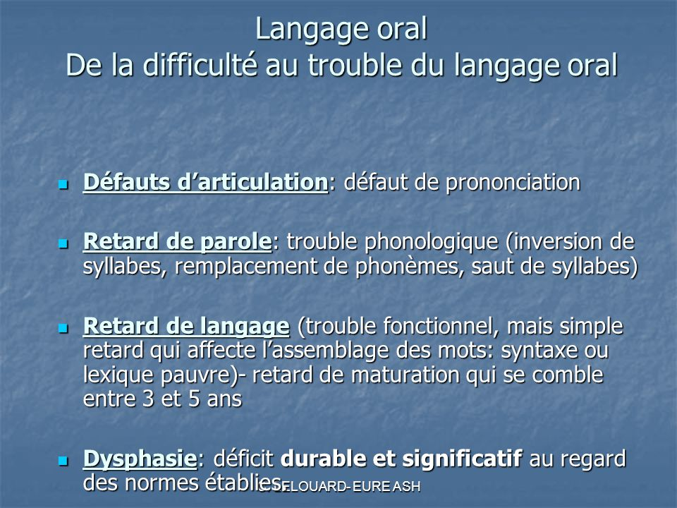 Trouble Langage Oral 47