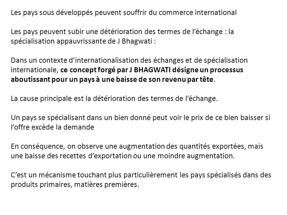 Elements D Analyse Du Commerce International Ppt Telecharger