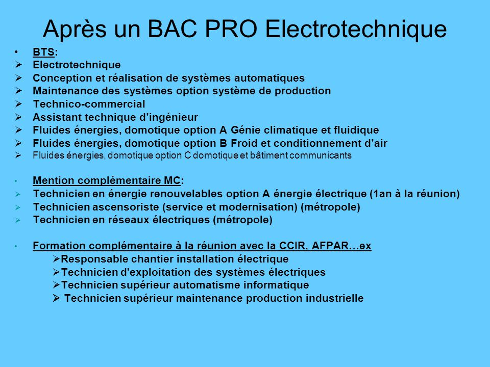 Apres Un Bac Pro L Insertion Professionnelle Poursuite D Etudes