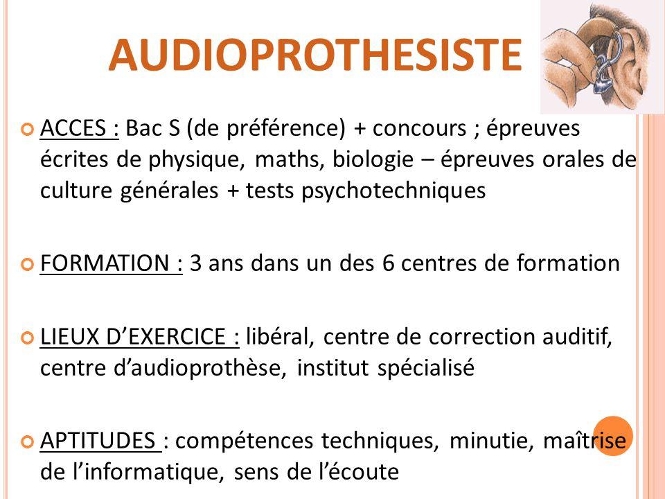 diplôme audioprothésiste par correspondance