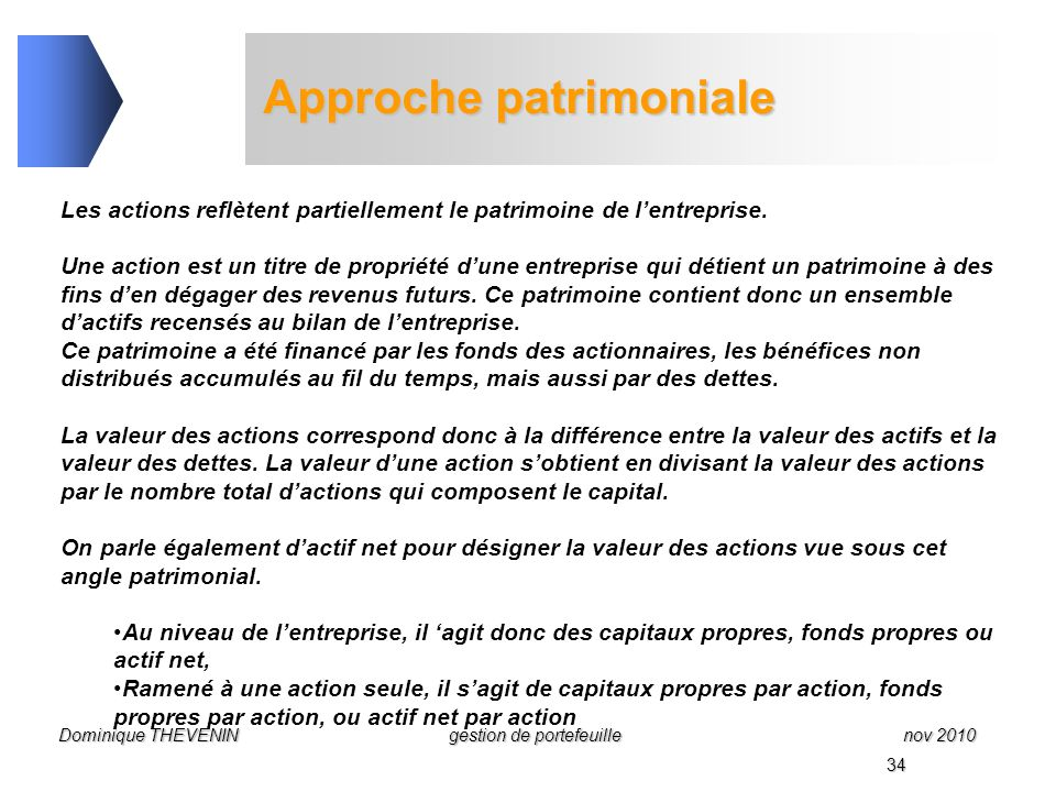 Gestion De Portefeuille La Selection Des Actions Ppt Video Online