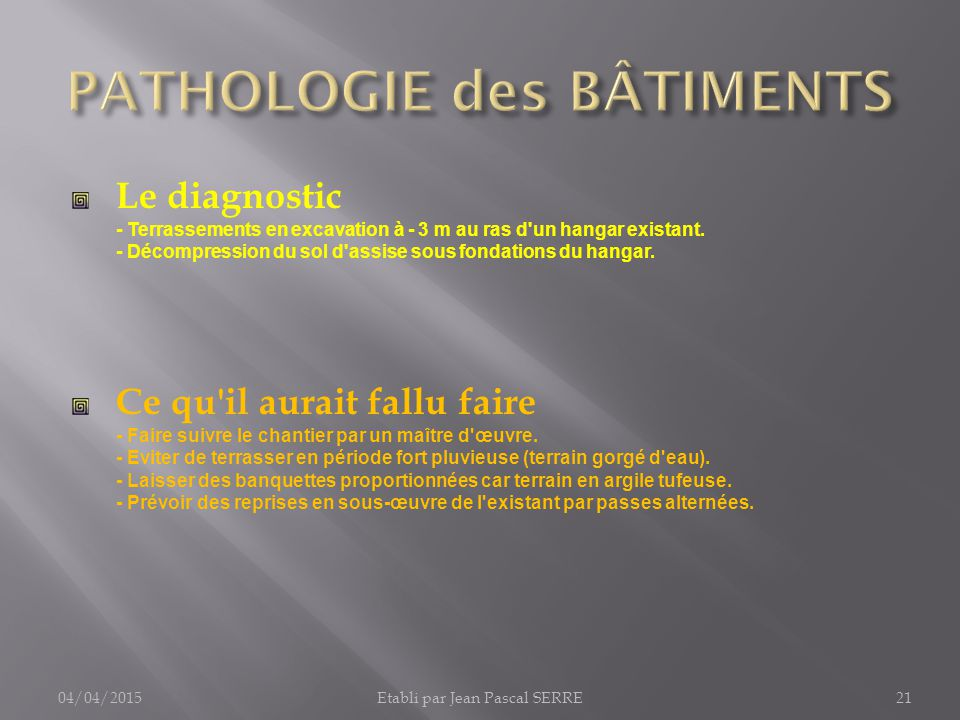 pathologie des b timents 1 fondations infrastructures ppt t l charger. Black Bedroom Furniture Sets. Home Design Ideas