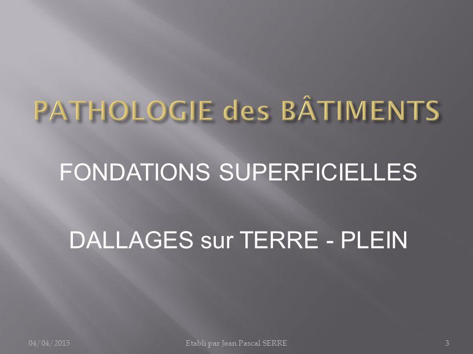 pathologie des b timents 1 fondations infrastructures. Black Bedroom Furniture Sets. Home Design Ideas