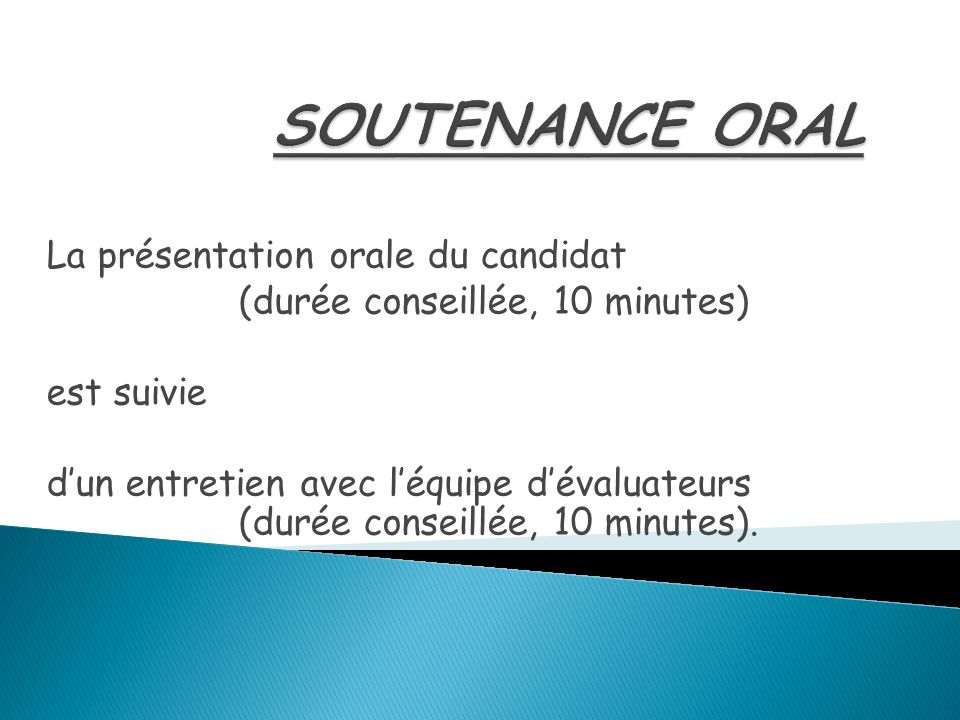 Soutenance Oral La Présentation Orale Du Candidat