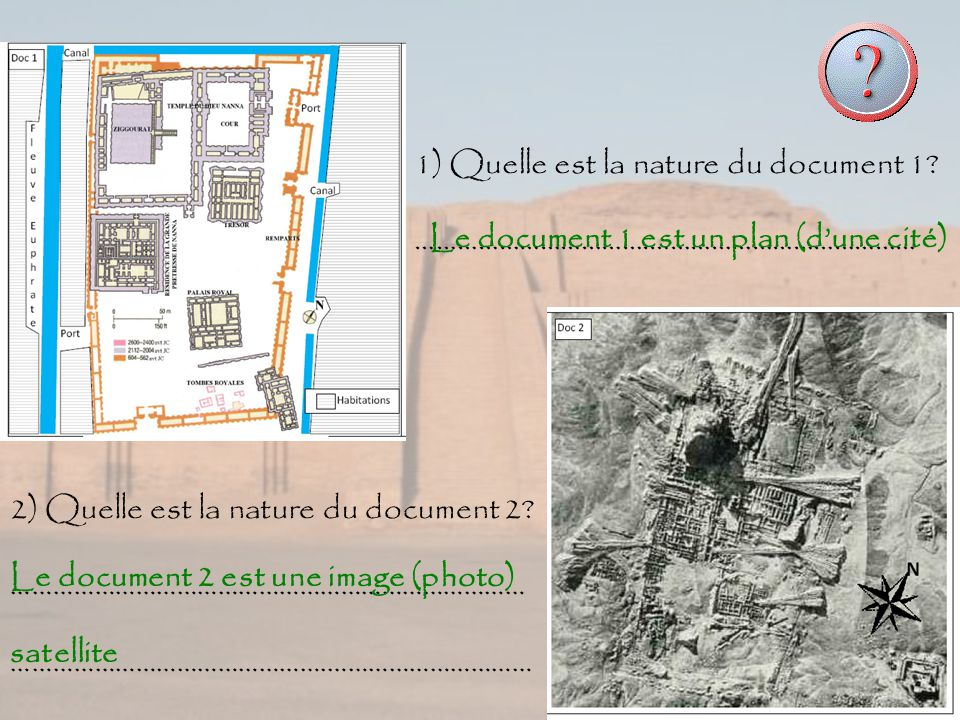 1) Quelle est la nature du document 1