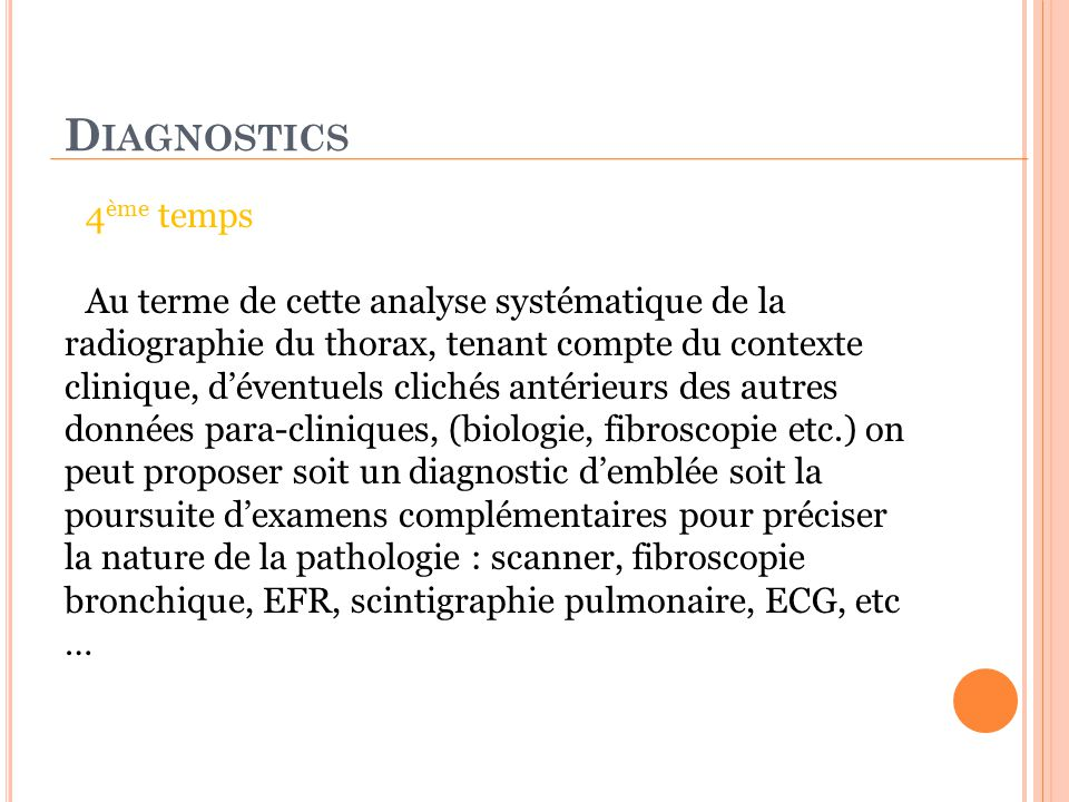 Diagnostics 4ème temps.