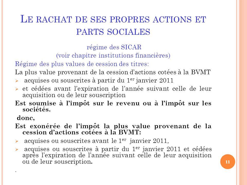 Le Rachat De Ses Propres Actions Et Parts Sociales Ppt Video
