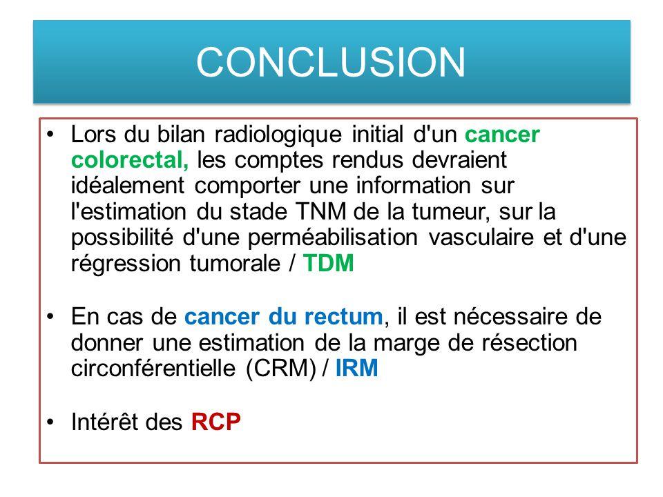 cancer colon bilan d extension