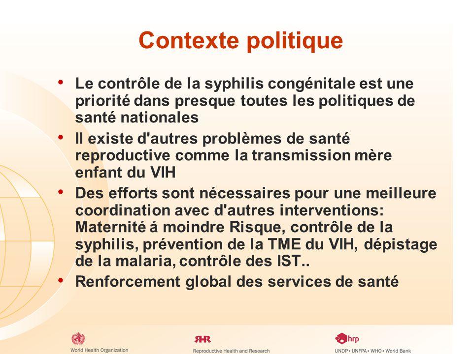Pourquoi eliminer la syphilis congénitale? - ppt télécharger