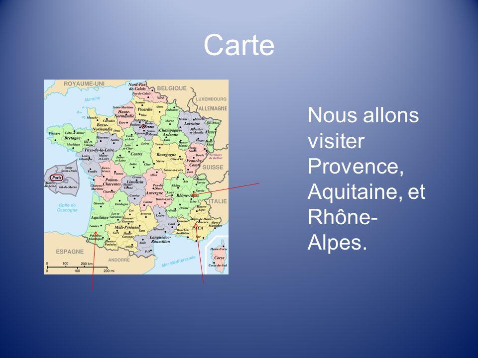 3 Carte Nous Allons Visiter Provence Aquitaine Et Rhne Alpes