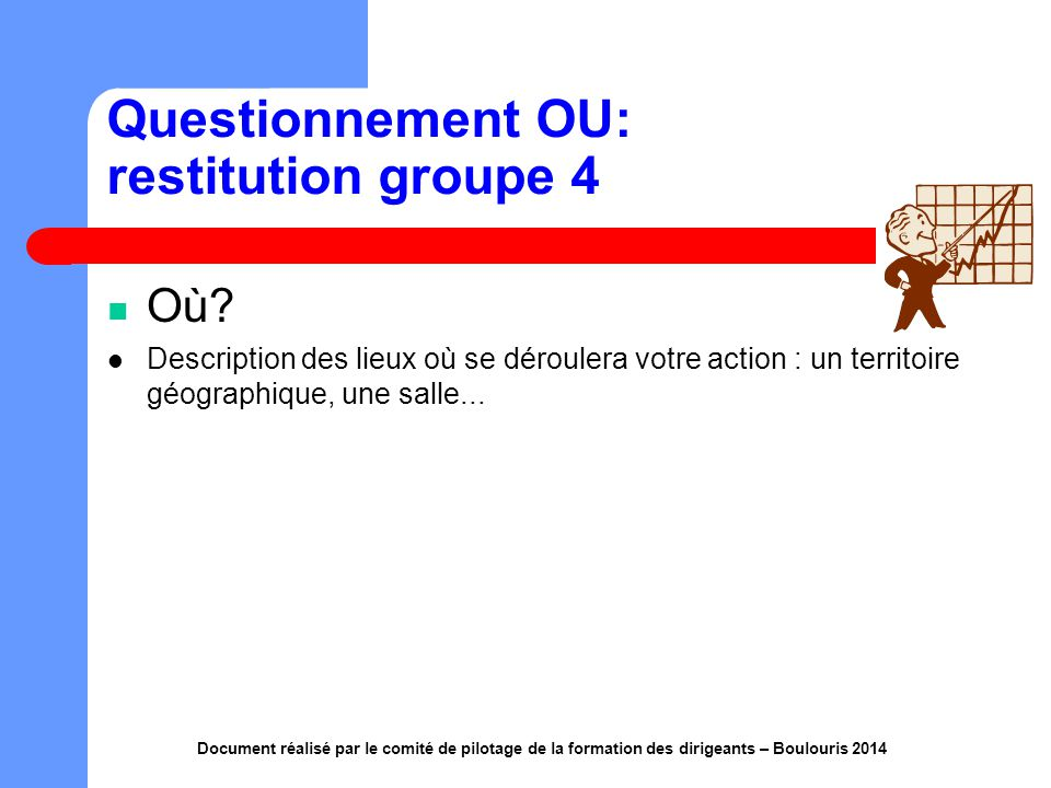 Questionnement OU: restitution groupe 4