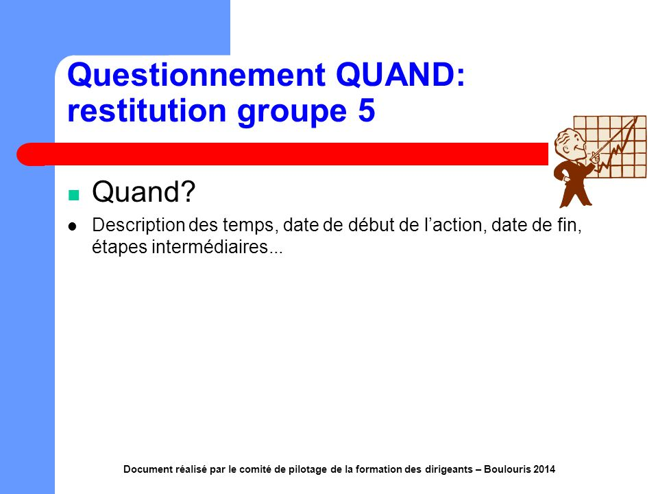 Questionnement QUAND: restitution groupe 5