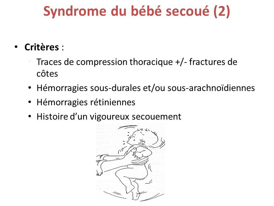 syndrome bébé secoué symptômes séquelles