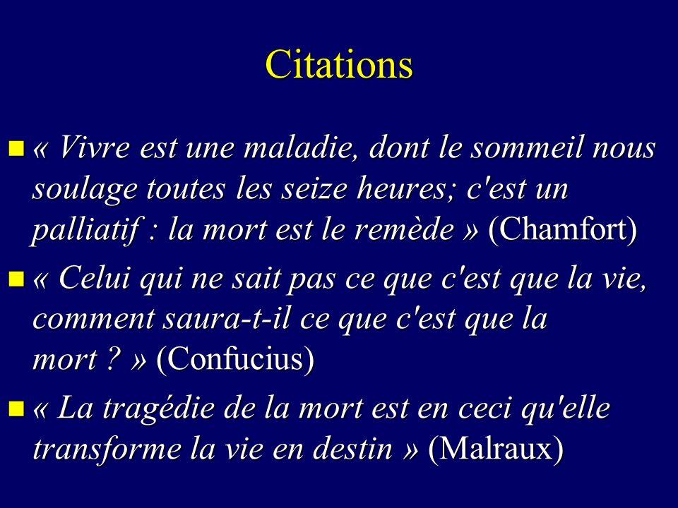 La Mort Citations Introduction La Mort Dans La Société Ppt