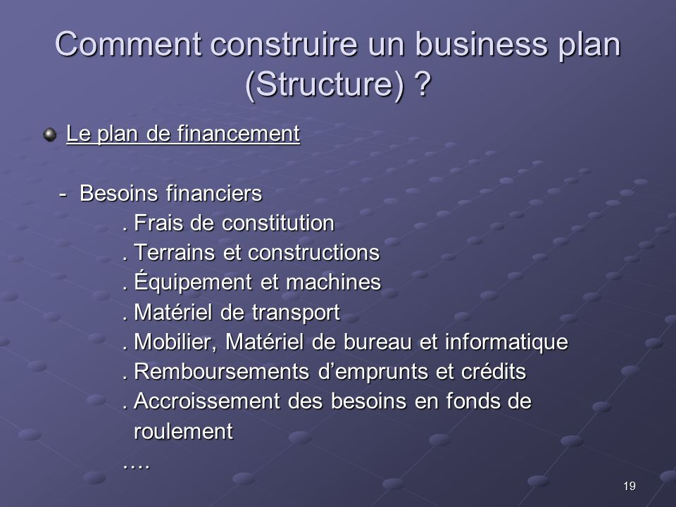 Aide Montage Business Plan