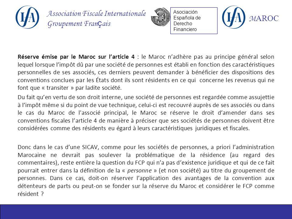 Reunion Tripartite Entre Les Branches Ifa France Maroc Et Espagne