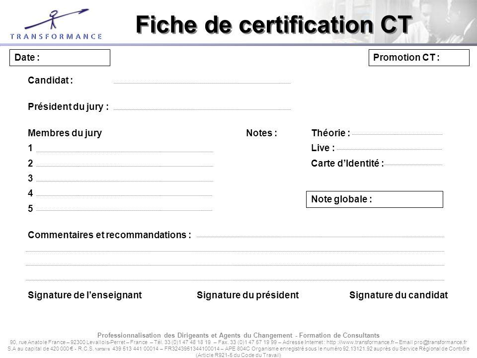 Dossier De Certification Coach Team Ppt Tlcharger